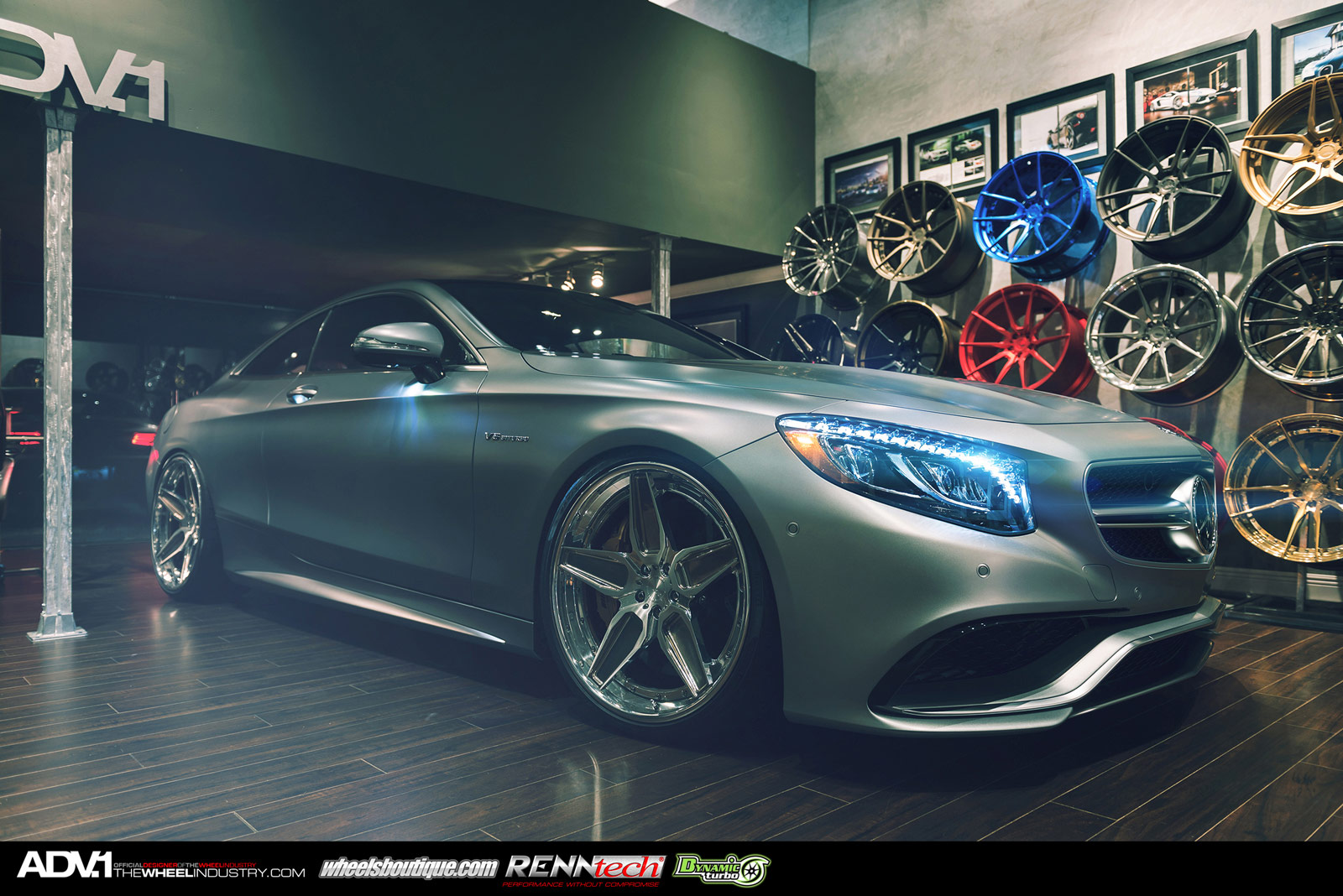 Matte grey mercedes benz s63 amg coupe with adv 1 wheels for Matte mercedes benz