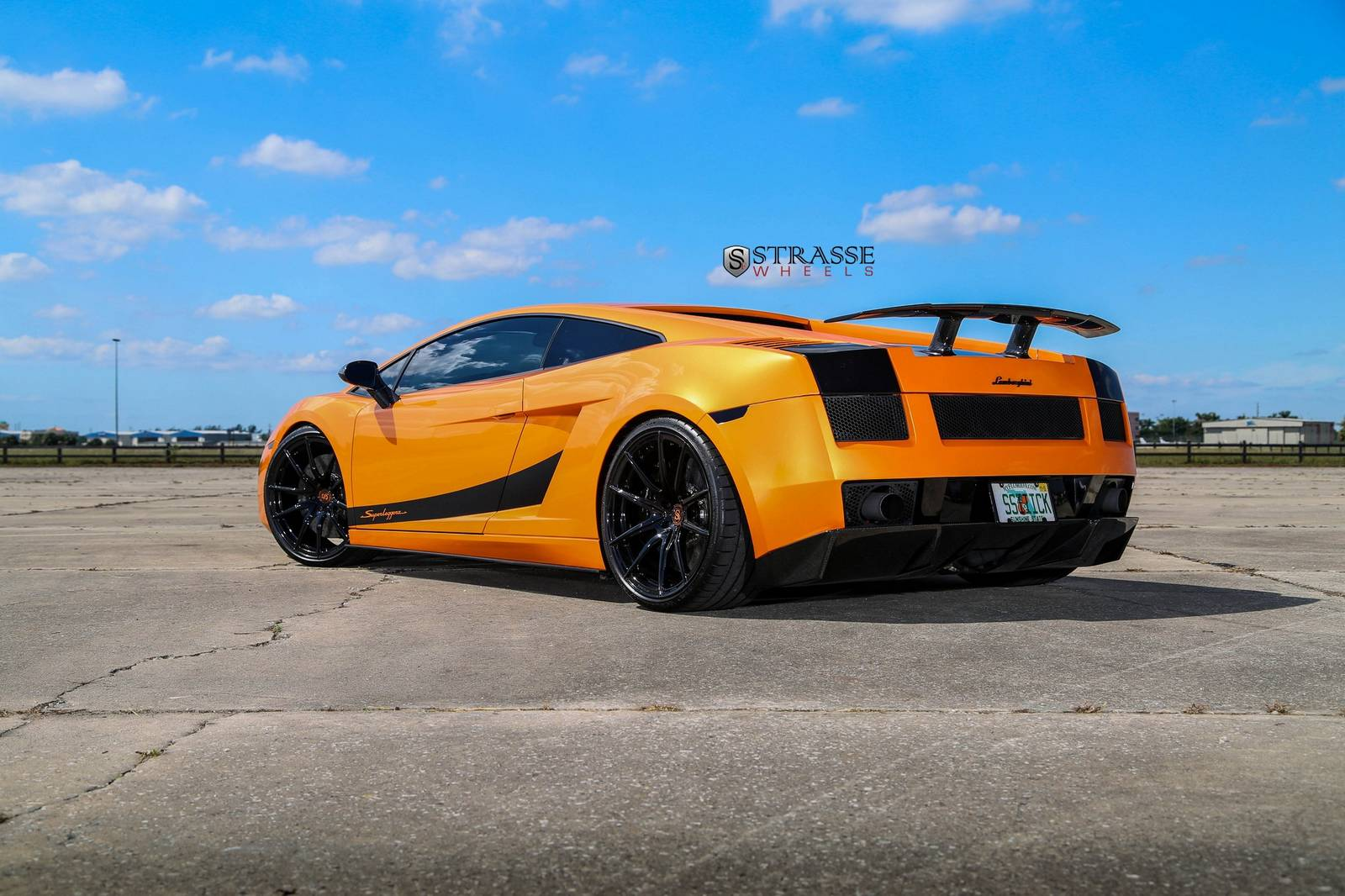 tuningcars arancio borealis lamborghini gallardo superleggera with strasse wheels. Black Bedroom Furniture Sets. Home Design Ideas