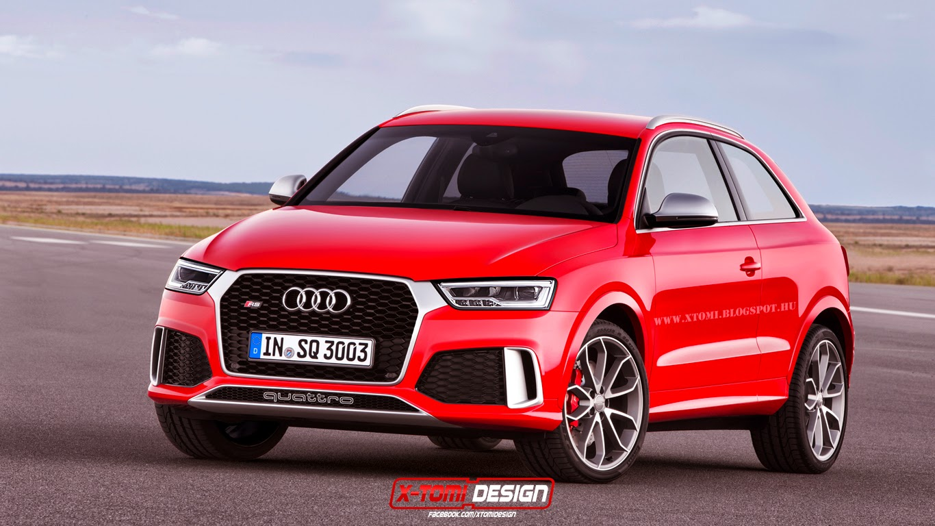 2015 audi rs q3 rendered with two doors gtspirit. Black Bedroom Furniture Sets. Home Design Ideas
