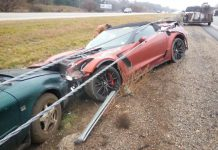 2015 Corvette Z06 Convertible Wrecked in Mississippi