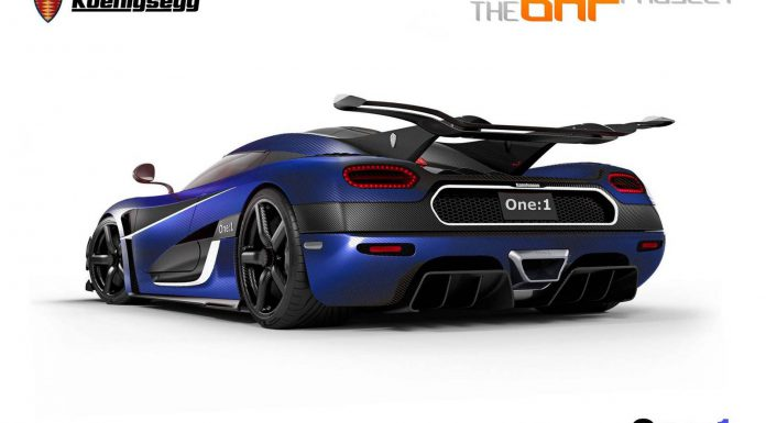 Render: Blue Carbon Koenigsegg One:1 by The BHP Project