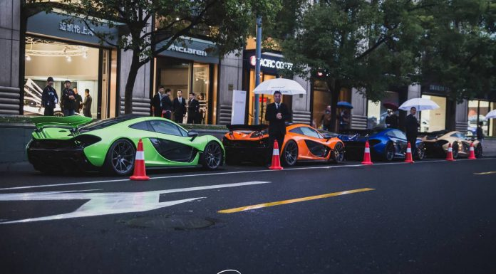 Four McLaren P1s Spotted in China
