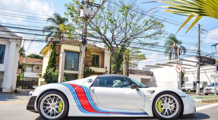 Martini Porsche 918 Spyder in Sao Paulo