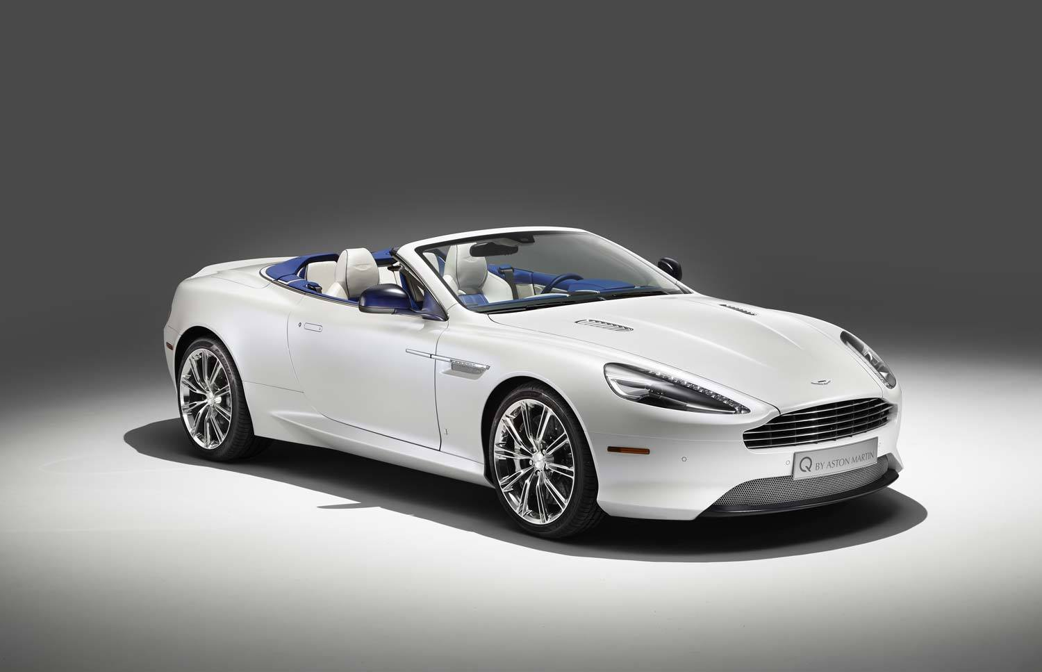 q by aston martin db9 volante in morning frost gtspirit. Black Bedroom Furniture Sets. Home Design Ideas