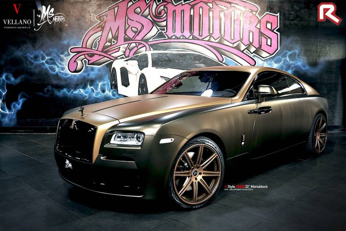 Choco Gold Rolls-Royce Wraith by MS Motors