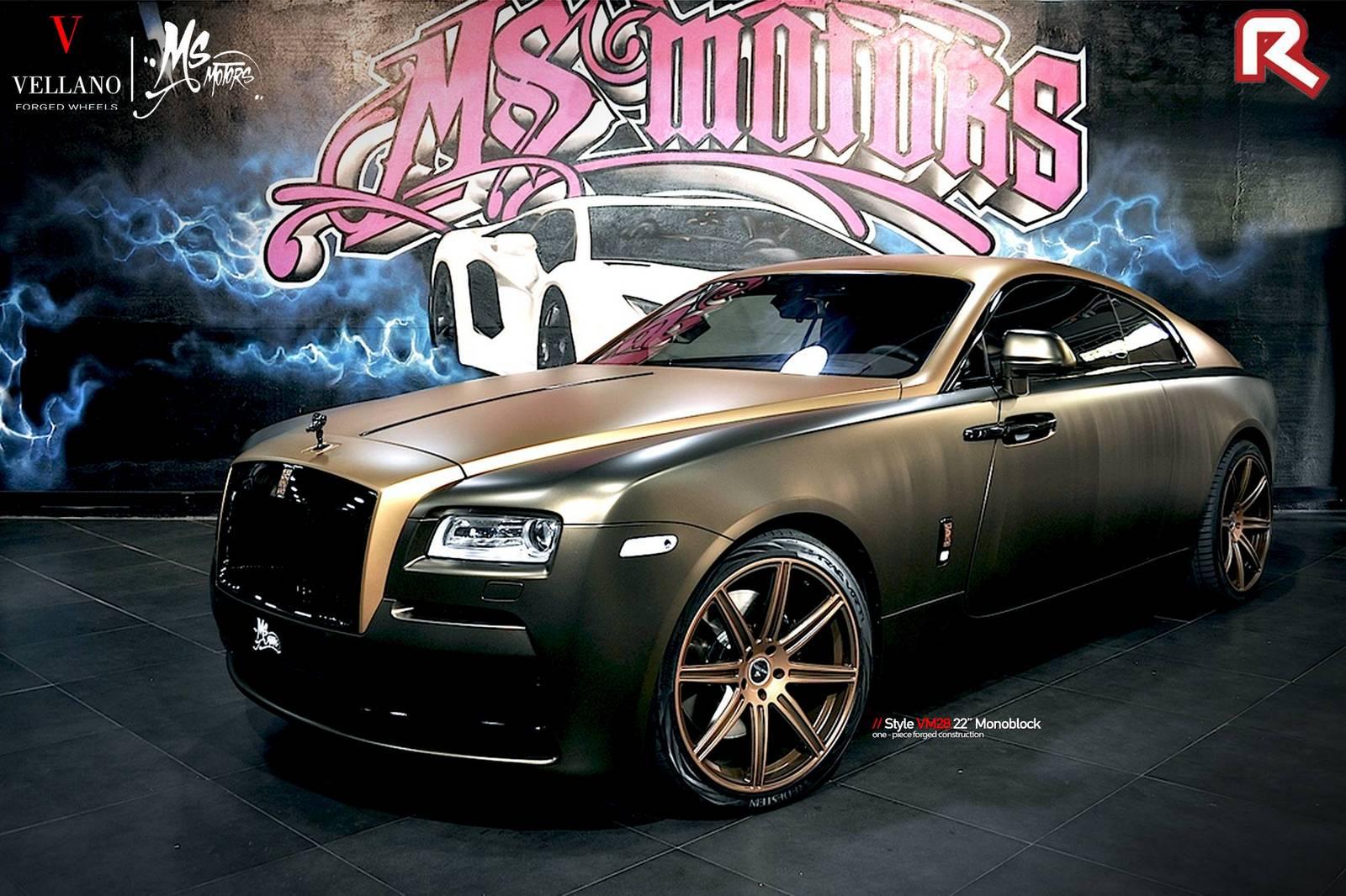 Choco Gold Rolls Royce Wraith By Ms Motors Gtspirit