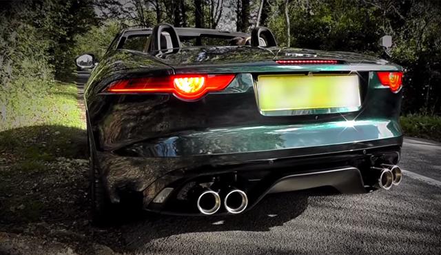 video jaguar f type v8 s with quicksilver exhaust gtspirit. Black Bedroom Furniture Sets. Home Design Ideas