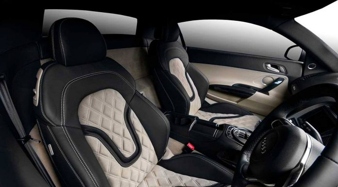 black nappa leather and beige Alcantara
