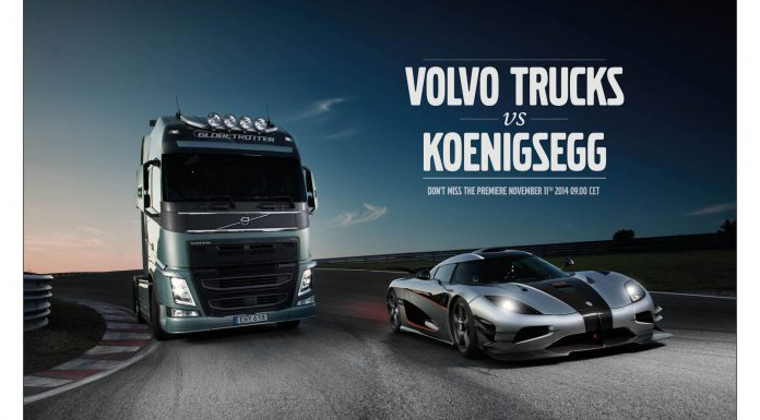 Volvo FH and a Koenigsegg One:1