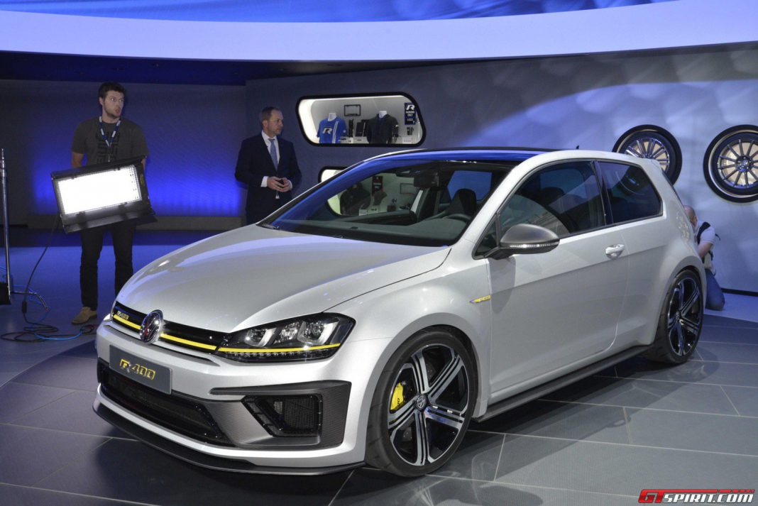Volkswagen Golf R400 at the Los Angeles Auto Show 2014