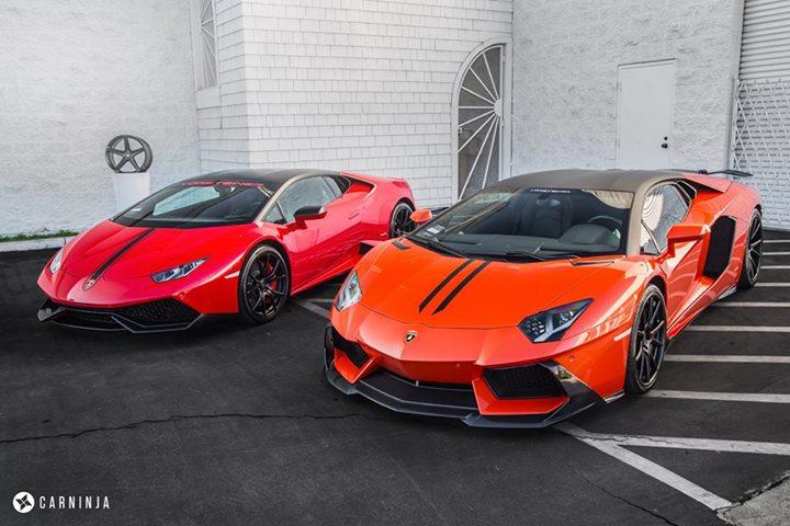Lamborghini Huracan and Lamborghini Aventador