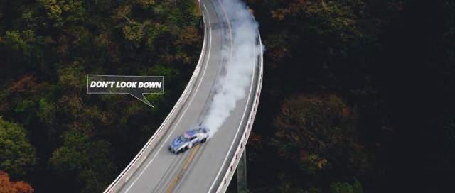 Video: Incredible 1KM Drift on A Bridge in a Nissan GT-R!