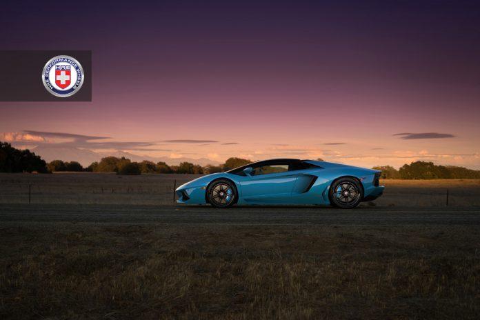 Lamborghini Aventador Roadster on HRE Wheels