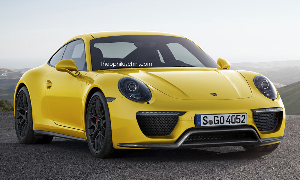Facelifted Porsche 911