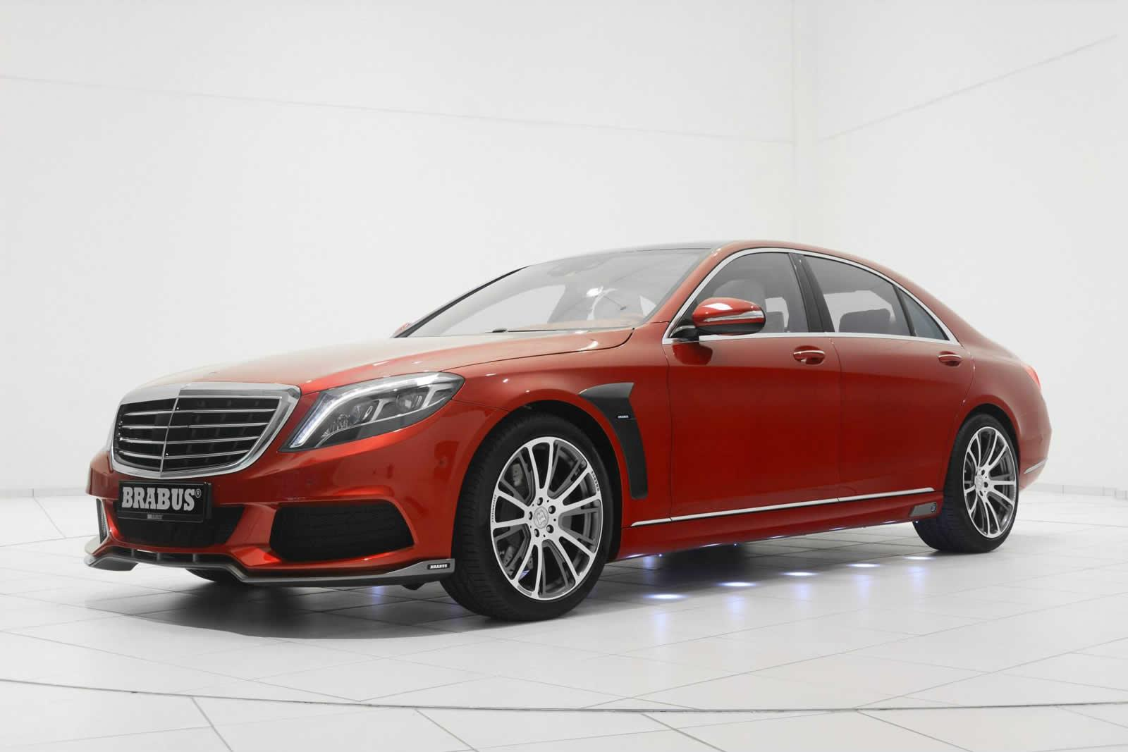 Brabus shows off red mercedes benz s class gtspirit for Mercedes benz red