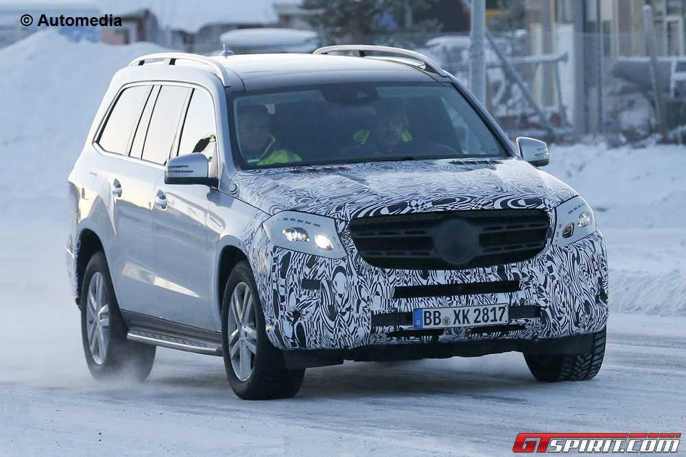 Upcoming mercedes benz gls spied testing gtspirit for Mercedes benz gls 2014