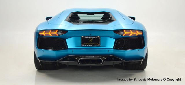 Unique Blue Wrapped Lamborghini Aventador