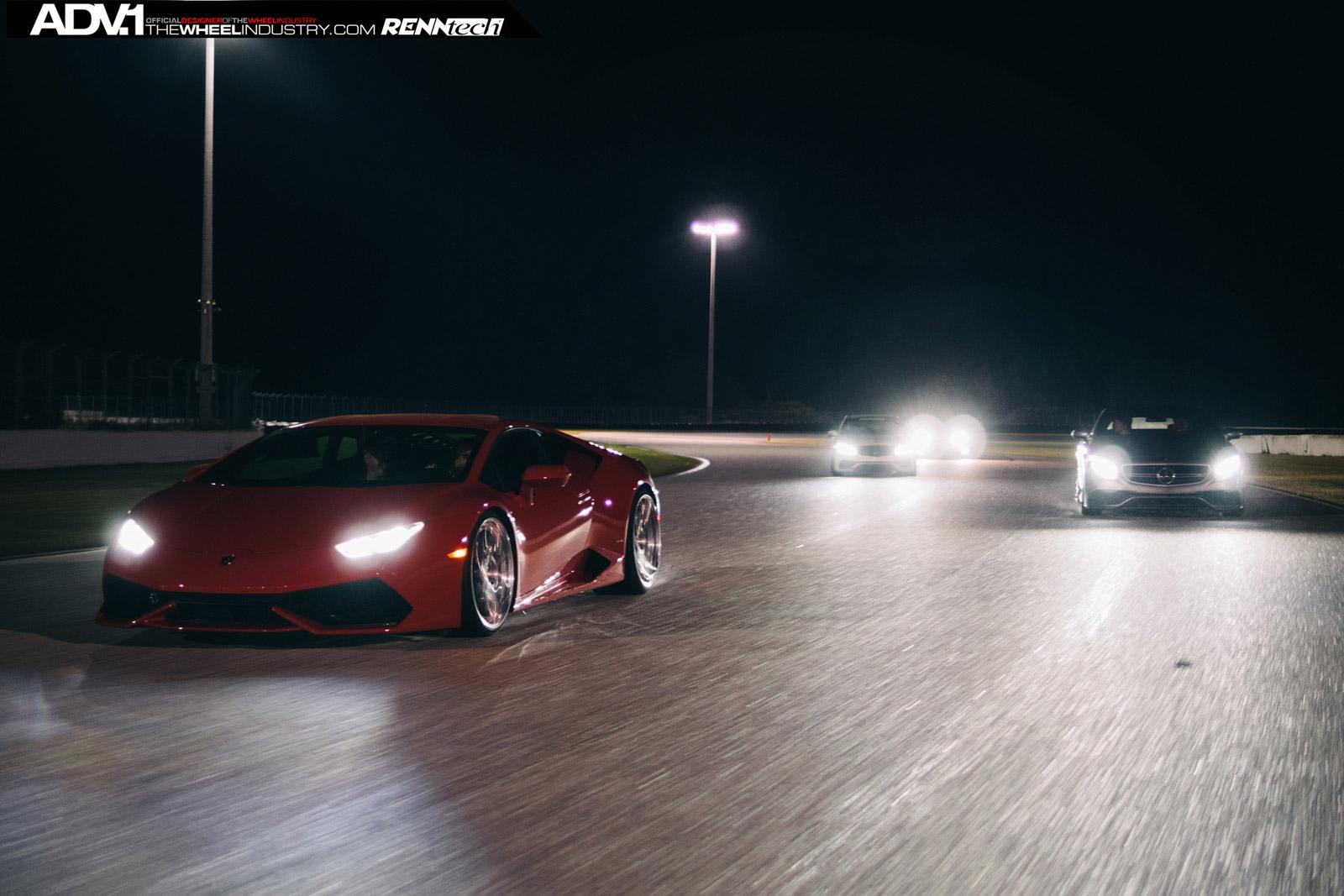 ADV 1 Lamborghini Huracan, Porsche 911 and S63 AMG on Track