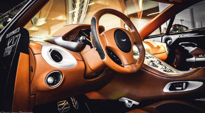 Brown Aston Martin One-77