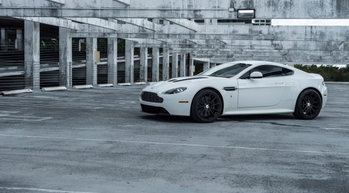 Aston Martin V12 Vantage with Satin Black HRE Wheels