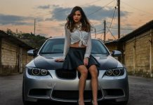 Cars and Girls: Krystelle Drouby Dazzles a BMW and STI Duo