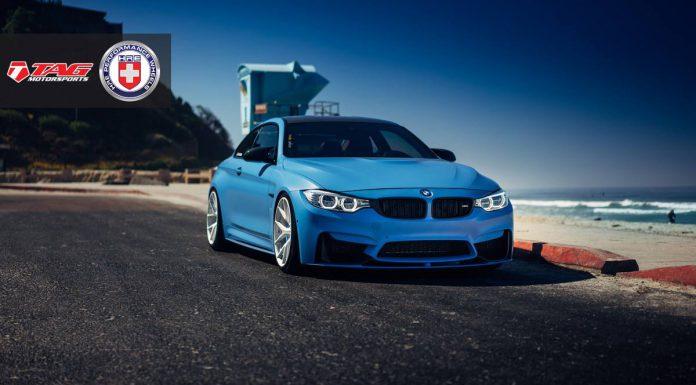 Yas Marina Blue BMW M4 with Brushed Ice HRE Wheels