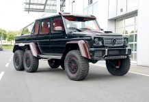 Brabus B63S 700 6x6 with Red Carbon Accents