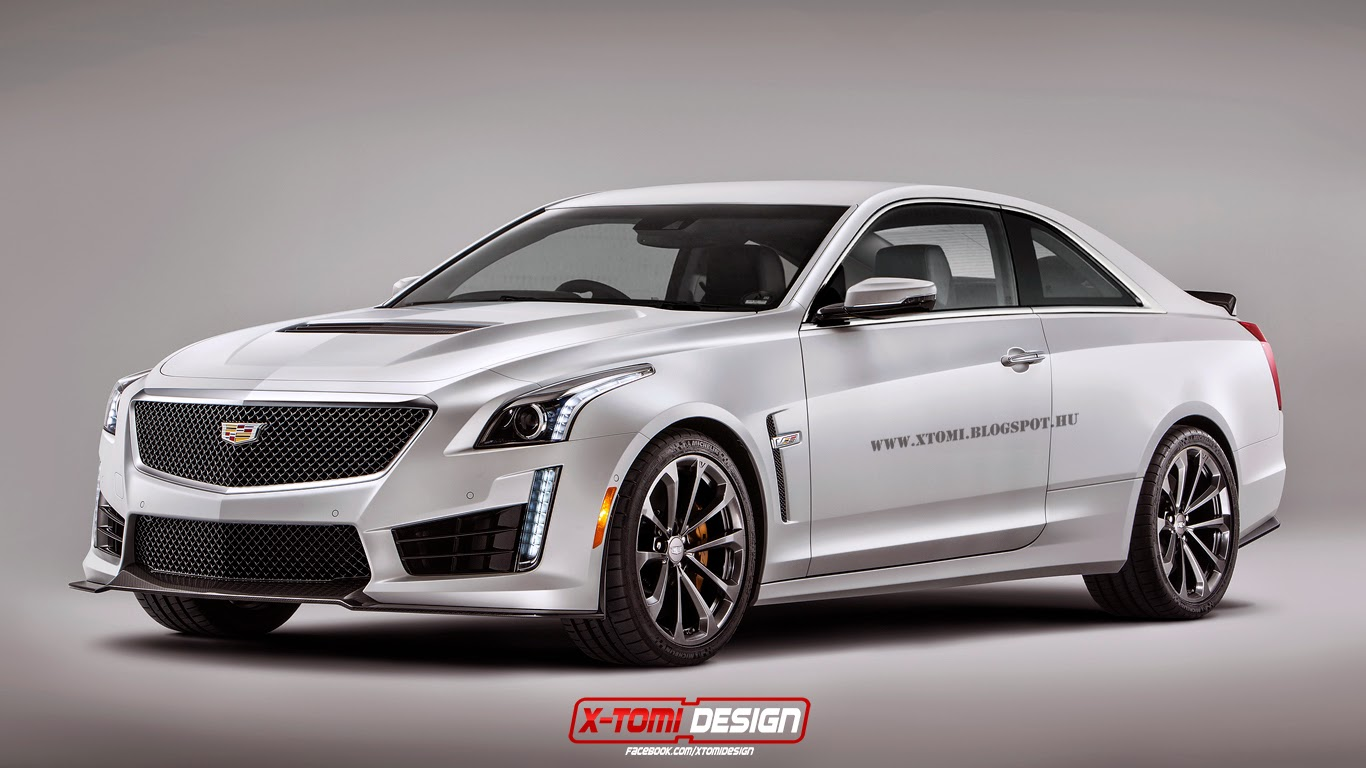 2016 cadillac cts v rendered as a coupe gtspirit. Black Bedroom Furniture Sets. Home Design Ideas