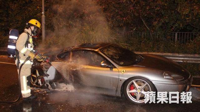 Ferrari 360 on Fire in Hong Kong