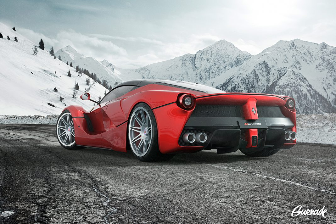 LaFerrari Rendered With Bold HRE Wheels