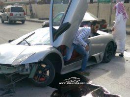 Lamborghini Murcielago LP640 crashes in Saudi Arabia