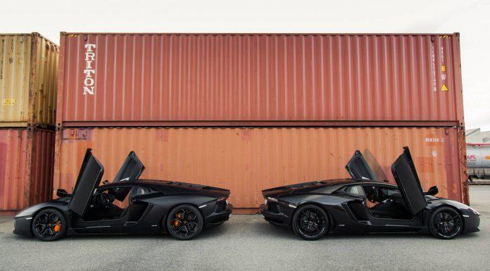 Nero Lamborghini Aventador Duo