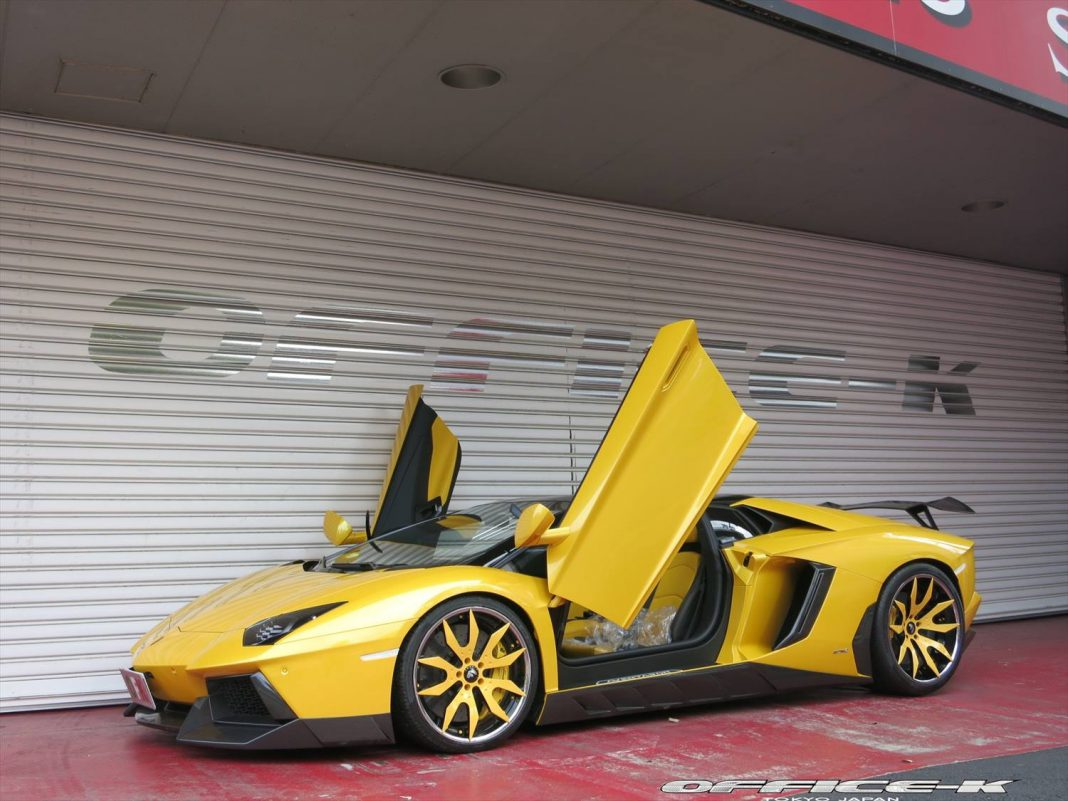 Yellow Novitec Torado Aventador