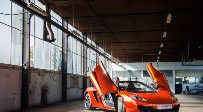 Volcano Orange McLaren 12C Spider Photoshoot