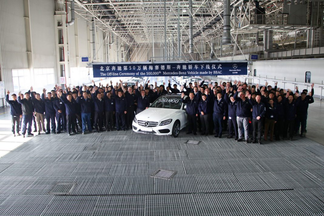 Mercedes-Benz's Chinese Venture Produces 500,000th Car