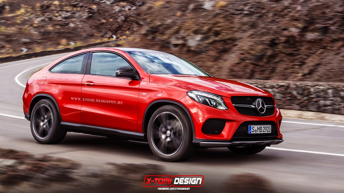 mercedes benz gle coupe rendered as three door gtspirit. Black Bedroom Furniture Sets. Home Design Ideas