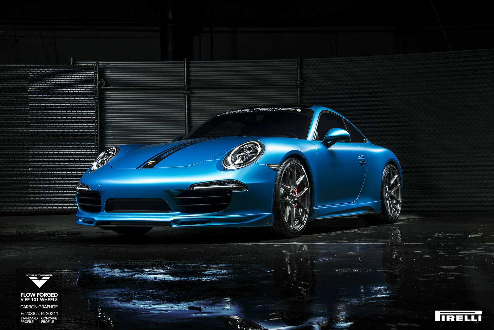 porsche 991 carrera s lowered on v ff 101 vorsteiner. Black Bedroom Furniture Sets. Home Design Ideas