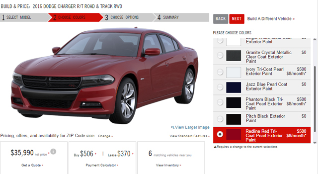 2015 Dodge Charger online configurator