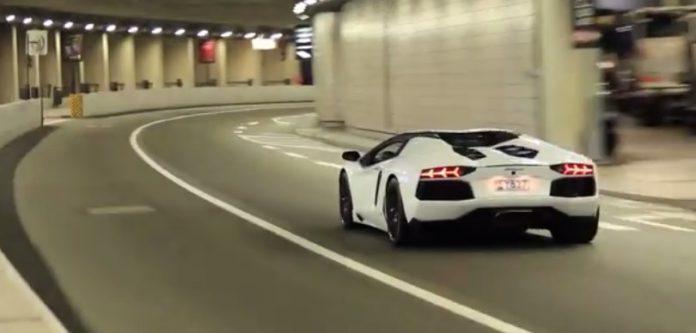 50 Supercars Accelerating in Monaco's F1 Tunnel