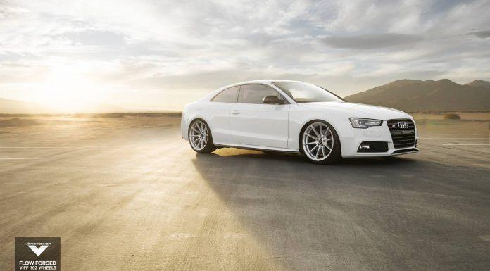 Audi S5 Lowered on Mercury Silver Vorsteiner Wheels