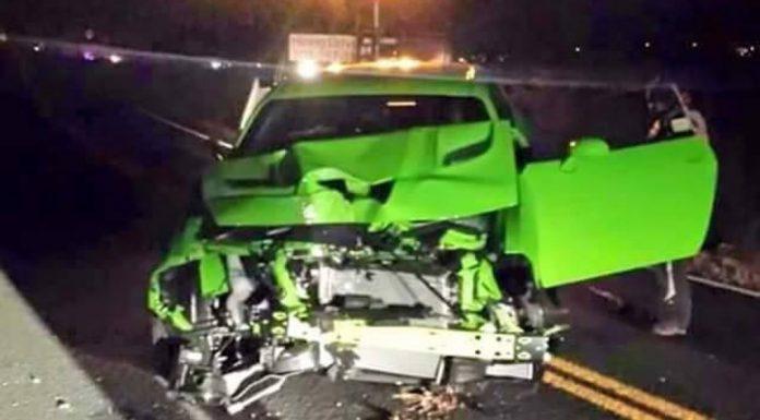 Dodge Challenger SRT Hellcat Crashes in Colorado