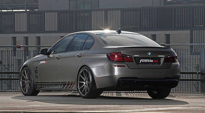 Grey Olive Matt Metallic BMW 550i by Fostla.de