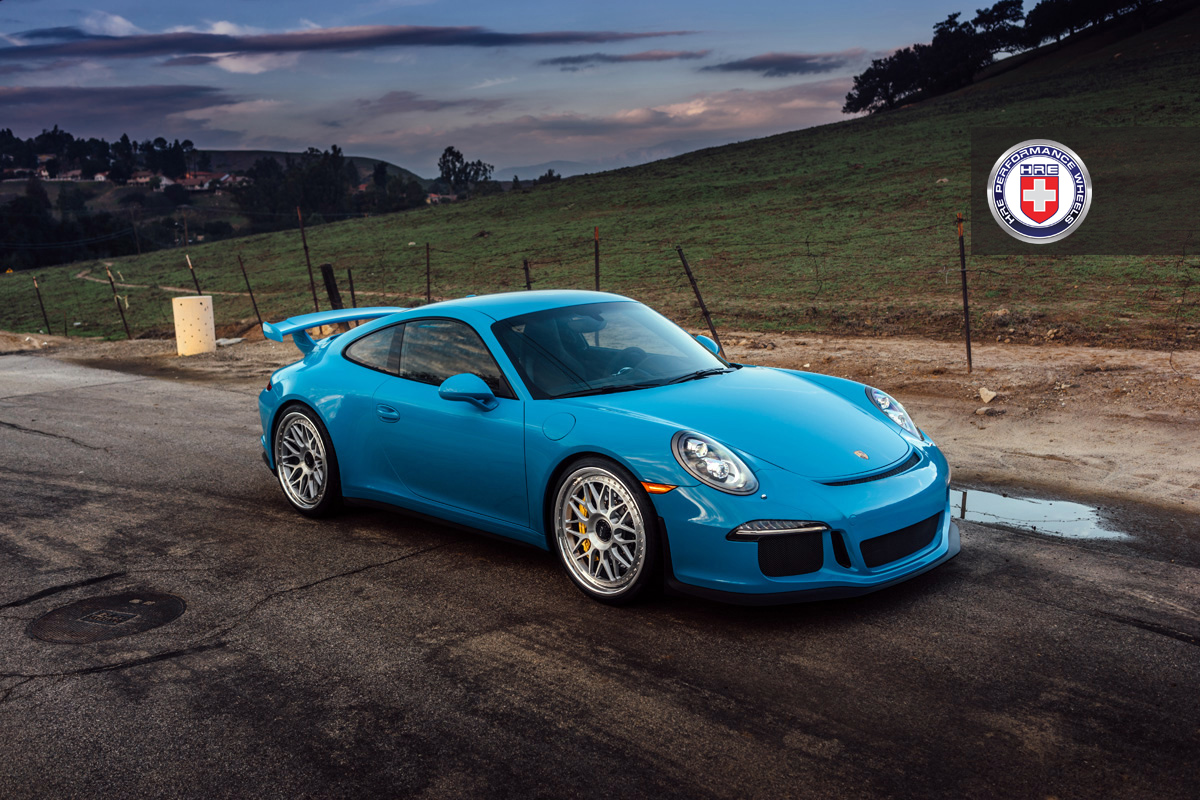 mexico blue porsche 911 gt3 on hre wheels gtspirit. Black Bedroom Furniture Sets. Home Design Ideas