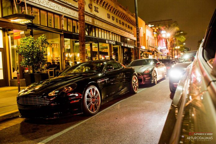 Aston Martin and Nissan GT-R