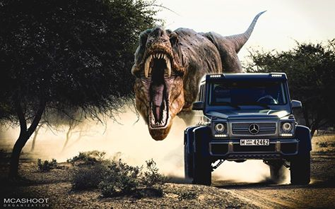 Mercedes-Benz G63 AMG 6x6 Rendered in Jurassic Park