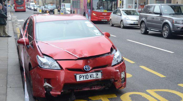 Toyota Prius Crashes into TVR Sagaris