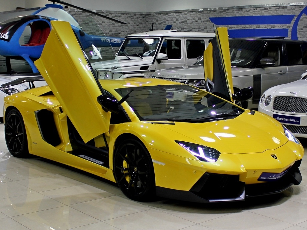 bold yellow lamborghini aventador for sale gtspirit. Black Bedroom Furniture Sets. Home Design Ideas