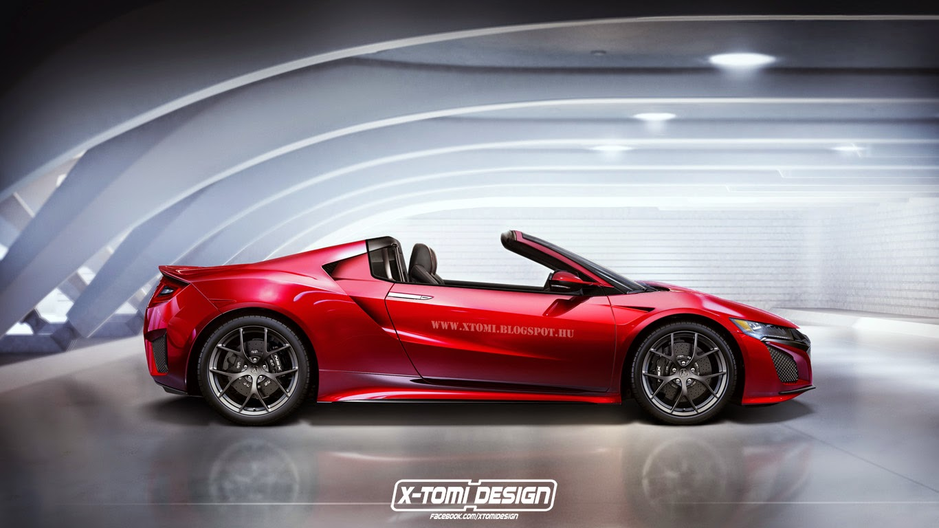 2016 honda nsx rendered as a targa gtspirit. Black Bedroom Furniture Sets. Home Design Ideas