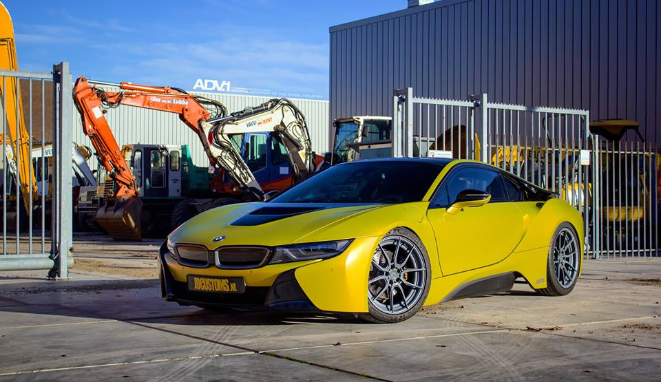 Frozen Yellow BMW i8 by JD Customs