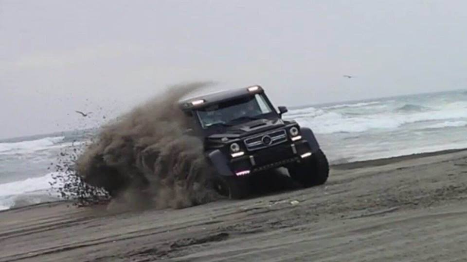 Brabus G63 AMG 6x6 Explores Chilean Sand Dunes!